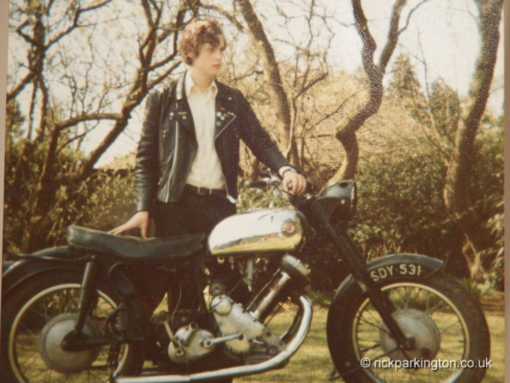 1980. Me at 16 with my £150 650 Panther