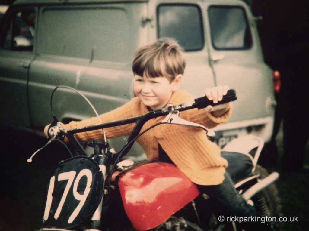 Me on Dad's Tribsa scrambler circa 1967